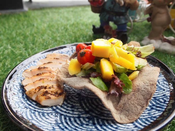 Grilled Chicken Fruit Salad