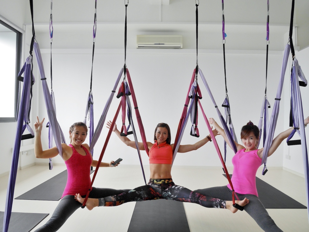 Left to right: Elyn (BFF), Gillian (Instructor at MotionWerks), Cheryann (BFF)