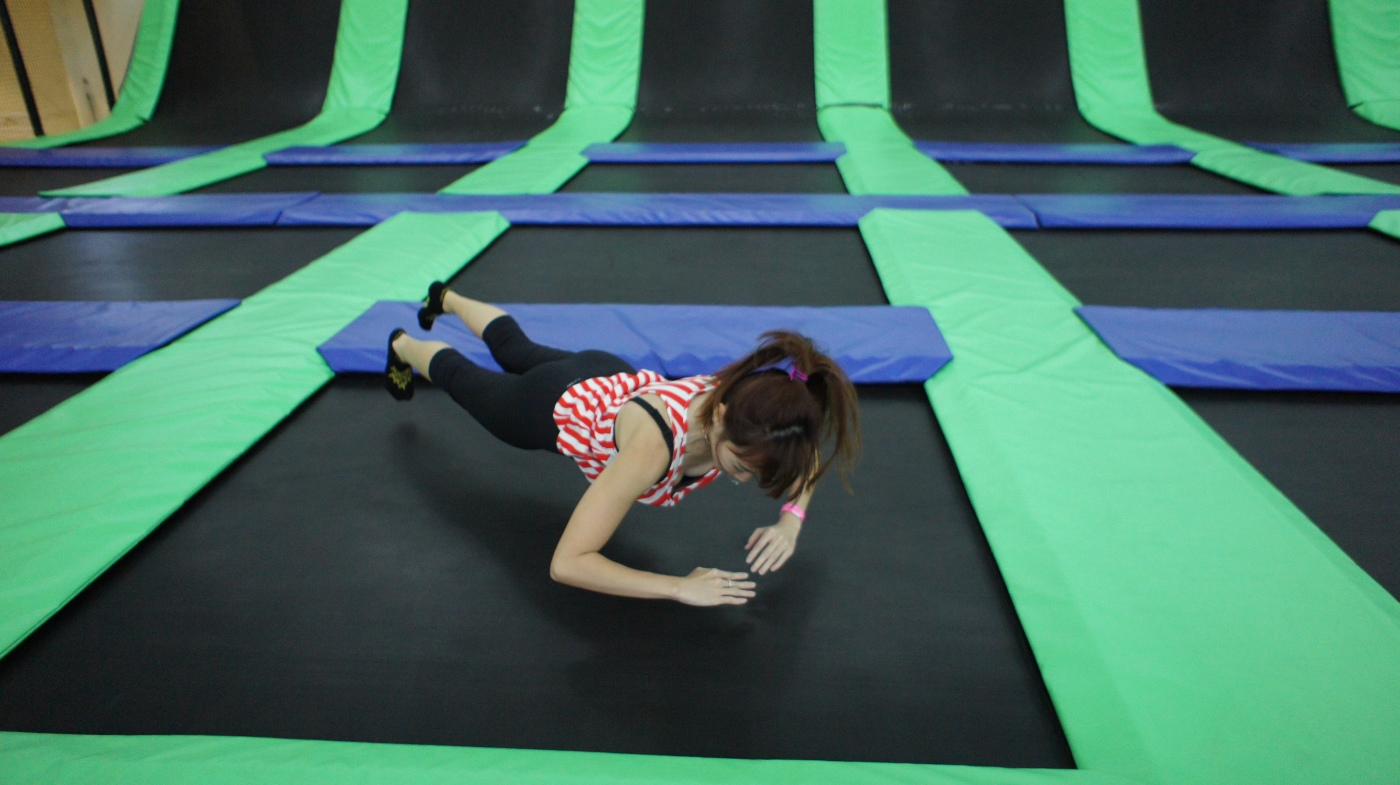Bareface Fettle at trampoline park